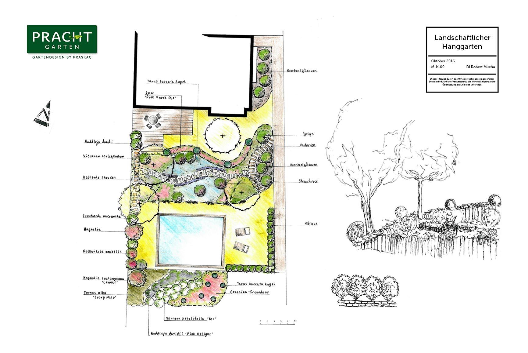Landschaftlicher Hanggartenplanung in NÖ