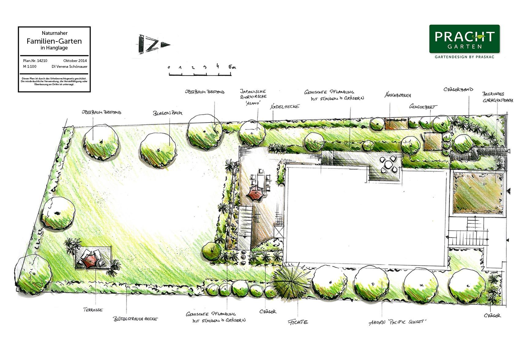 Naturnaher Familiengartenplanung durch Gartenarchitekt von Prachtgarten