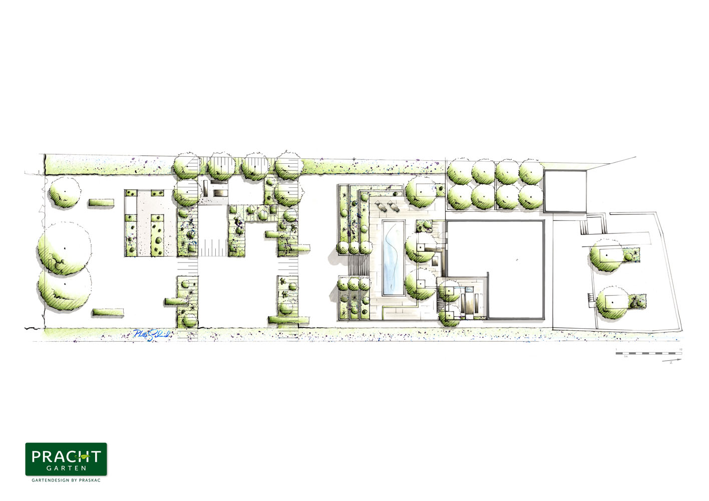 Ein Prachtgarten für moderne Architektur